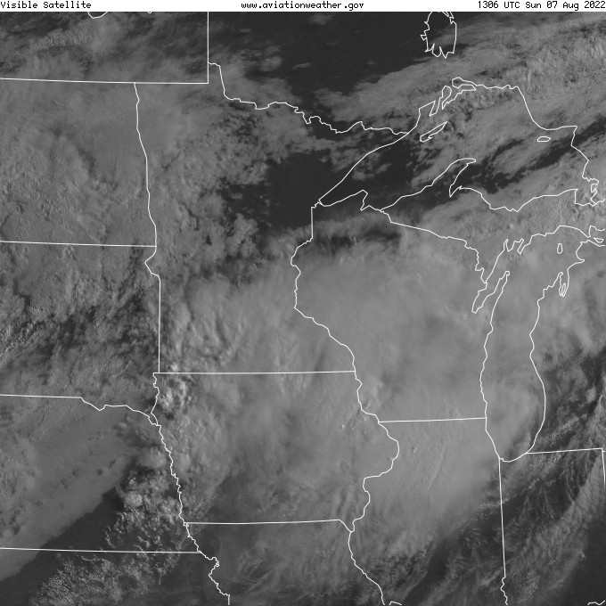 Central Plains Visible Satellite Image