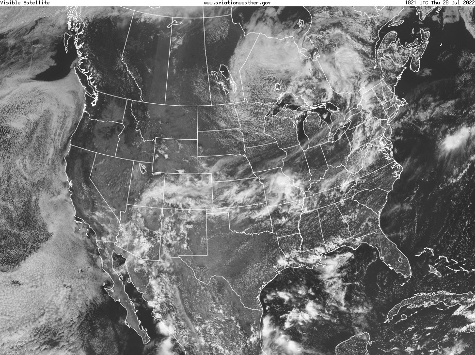 US Visible Satellite Image