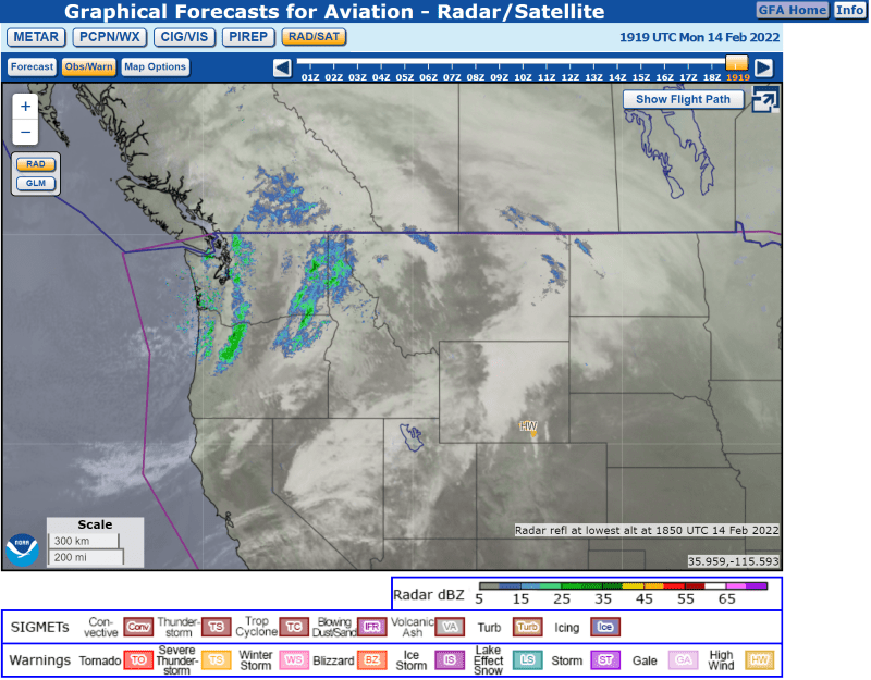 Vfr Weather Map.Awc Graphical Forecasts For Aviation